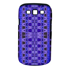 Blue Black Geometric Pattern Samsung Galaxy S III Classic Hardshell Case (PC+Silicone)