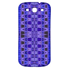 Blue Black Geometric Pattern Samsung Galaxy S3 S III Classic Hardshell Back Case