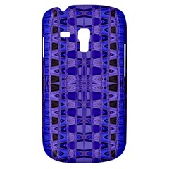 Blue Black Geometric Pattern Samsung Galaxy S3 MINI I8190 Hardshell Case