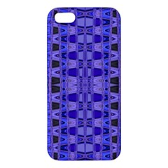 Blue Black Geometric Pattern Apple iPhone 5 Premium Hardshell Case