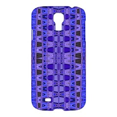 Blue Black Geometric Pattern Samsung Galaxy S4 I9500/I9505 Hardshell Case