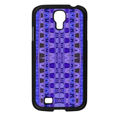 Blue Black Geometric Pattern Samsung Galaxy S4 I9500/ I9505 Case (black) by BrightVibesDesign