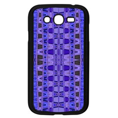 Blue Black Geometric Pattern Samsung Galaxy Grand DUOS I9082 Case (Black)