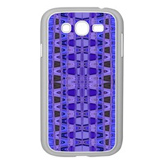 Blue Black Geometric Pattern Samsung Galaxy Grand Duos I9082 Case (white) by BrightVibesDesign