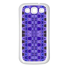 Blue Black Geometric Pattern Samsung Galaxy S3 Back Case (white)
