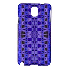 Blue Black Geometric Pattern Samsung Galaxy Note 3 N9005 Hardshell Case
