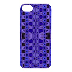 Blue Black Geometric Pattern Apple iPhone 5S/ SE Hardshell Case