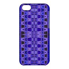 Blue Black Geometric Pattern Apple iPhone 5C Hardshell Case