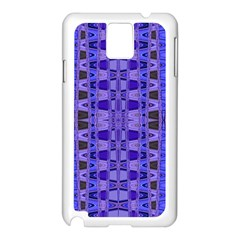 Blue Black Geometric Pattern Samsung Galaxy Note 3 N9005 Case (White)