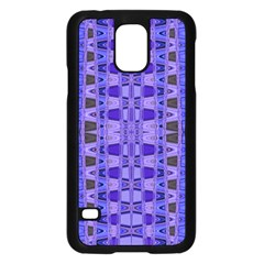 Blue Black Geometric Pattern Samsung Galaxy S5 Case (black)
