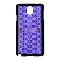 Blue Black Geometric Pattern Samsung Galaxy Note 3 Neo Hardshell Case (Black)