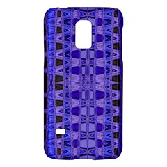 Blue Black Geometric Pattern Galaxy S5 Mini