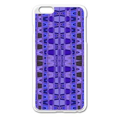Blue Black Geometric Pattern Apple iPhone 6 Plus/6S Plus Enamel White Case