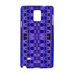 Blue Black Geometric Pattern Samsung Galaxy Note 4 Hardshell Case