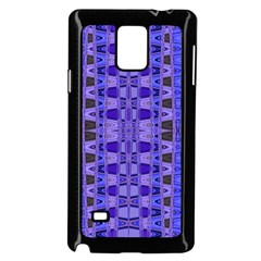 Blue Black Geometric Pattern Samsung Galaxy Note 4 Case (Black)