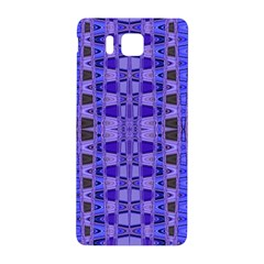 Blue Black Geometric Pattern Samsung Galaxy Alpha Hardshell Back Case