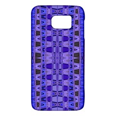Blue Black Geometric Pattern Galaxy S6 by BrightVibesDesign