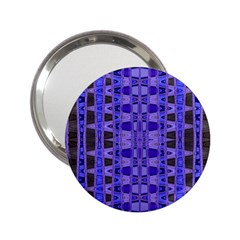 Blue Black Geometric Pattern 2.25  Handbag Mirrors