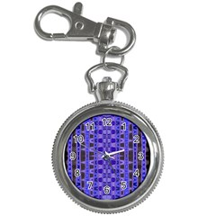Blue Black Geometric Pattern Key Chain Watches