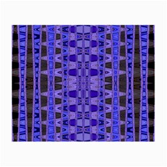 Blue Black Geometric Pattern Small Glasses Cloth