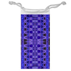 Blue Black Geometric Pattern Jewelry Bags