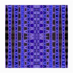Blue Black Geometric Pattern Medium Glasses Cloth (2-Side)