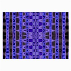 Blue Black Geometric Pattern Large Glasses Cloth