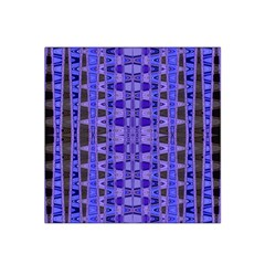 Blue Black Geometric Pattern Satin Bandana Scarf