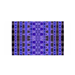 Blue Black Geometric Pattern Satin Wrap