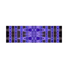 Blue Black Geometric Pattern Satin Scarf (Oblong)