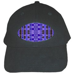 Blue Black Geometric Pattern Black Cap