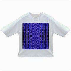 Blue Black Geometric Pattern Infant/Toddler T-Shirts