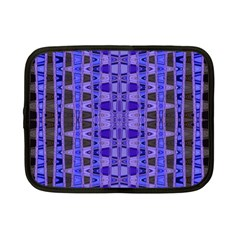 Blue Black Geometric Pattern Netbook Case (Small)