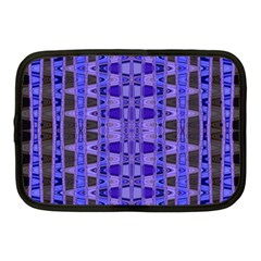 Blue Black Geometric Pattern Netbook Case (Medium)