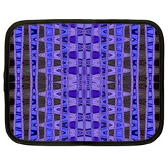 Blue Black Geometric Pattern Netbook Case (Large)