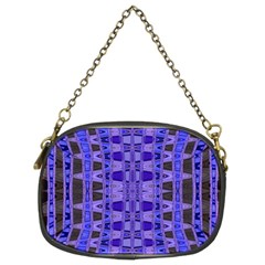 Blue Black Geometric Pattern Chain Purses (Two Sides)