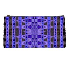 Blue Black Geometric Pattern Pencil Cases