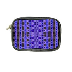Blue Black Geometric Pattern Coin Purse