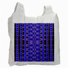 Blue Black Geometric Pattern Recycle Bag (Two Side)