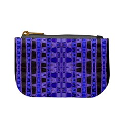 Blue Black Geometric Pattern Mini Coin Purses