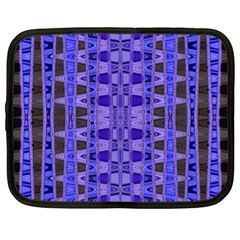 Blue Black Geometric Pattern Netbook Case (XL)