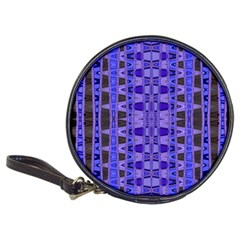 Blue Black Geometric Pattern Classic 20-CD Wallets