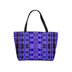 Blue Black Geometric Pattern Shoulder Handbags