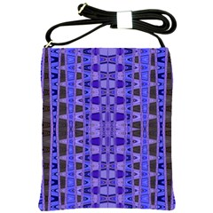 Blue Black Geometric Pattern Shoulder Sling Bags