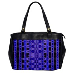 Blue Black Geometric Pattern Office Handbags