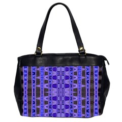 Blue Black Geometric Pattern Office Handbags (2 Sides)