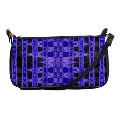 Blue Black Geometric Pattern Shoulder Clutch Bags