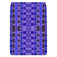 Blue Black Geometric Pattern Flap Covers (L)