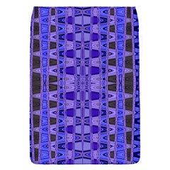 Blue Black Geometric Pattern Flap Covers (S)