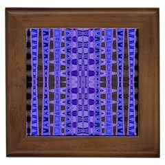 Blue Black Geometric Pattern Framed Tiles